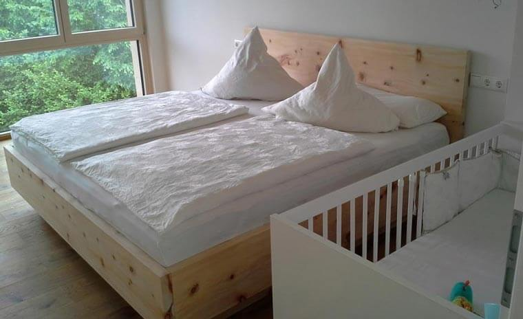 geschreinertes Doppelbett bei Schreinerei Summer GmbH bei Kaufbeuren
